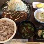 くいしん坊 魚国 - 料理写真:♪ランチB(ポークソテーデミグラスソース)¥800