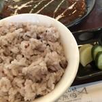 くいしん坊 魚国 - ♪十六穀米の大盛りをチョイス