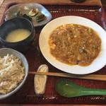 112224519 - 渡り蟹と豆腐のチリソース 1500円
