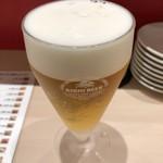 立ち食い鮨 鈴な凛 - 生ビール小。