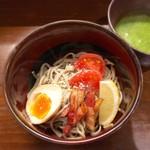 和びすとろGAKU - 変わり種 バジル蕎麦!!