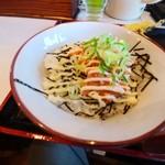 荒木伝次郎 - 鮭マヨ丼。