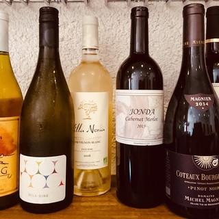 自然派ワインも各種ご用意しております