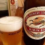 土佐 - ドリンク写真:瓶ビール(KIRIN)・・・グラスはASAHIwww