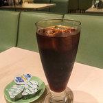Shouwa - ドリンクは短時間で飲めるようにアイスコーヒーにしましたが・・・やっぱりホットコーヒーが飲みたかった!