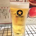 おでんと肉豆富料理 酒場ゴロー - 生ビール 中  290円