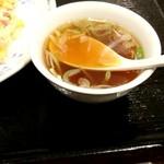 112242526 - チャーハン  590円についてきたスープ