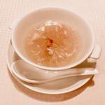 112243434 - 金糸瓜と蟹肉スープ