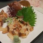 あすか亭 - 粒貝刺身