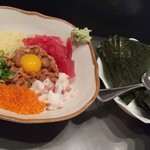 あすか亭 - 納豆5色盛り