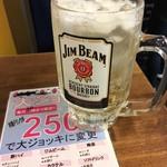 酔いどれ - 「ビームハイボール」大ジョッキ。20時まで250円也。税込。
