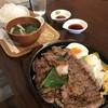SPOON - 料理写真:ロースステーキランチ♪ご飯大盛り、300gラージでオーダー(๑˃̵ᴗ˂̵)و