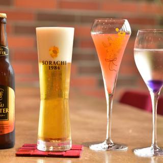 こだわりのビールや自家製の梅酒、オリジナルカクテルもご用意