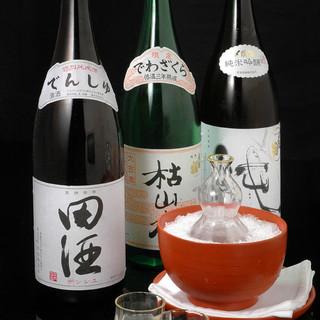 懐石料理を引き立てる自慢の厳選酒