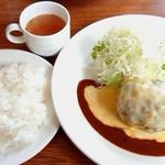112282596 - チーズハンバーグ(チーズアウト)【Jun.2019】