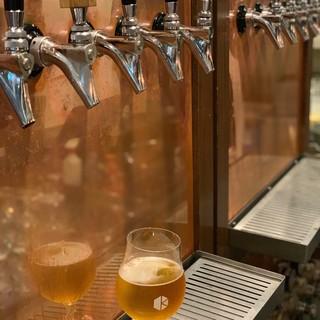 クラフトビール10種の飲み放題コースもご用意しております!