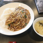 中國菜館 美鈴 - 料理写真:牛肉あんかけご飯 2019.7月