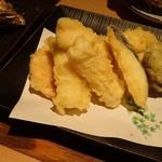 函館海鮮料理 海寿 - イカの天ぷら