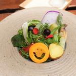 傳 - その日取れた野菜サラダ