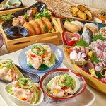土風炉 夢町小路 - 料理写真:大漁船盛りと銘柄豚の冷しゃぶコース