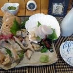苫小牧新鮮魚市場 - 料理写真:貝づくし_3品(1944円)_2019-07-11