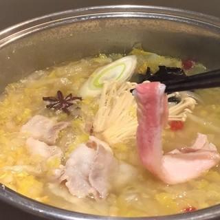 【酸菜しゃぶしゃぶ】乳酸菌で美肌、デトックス、ダイエット効果