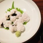 ギンザ うおぬま - 鱧の落とし 鱧の湯引き 梅肉