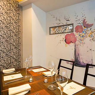 居心地の良い寛ぎの空間で、ゆったりとしたお食事の時間を