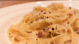 オステリア ミモザ - 2種のチーズとパンチェッタのローマ風カルボナーラ