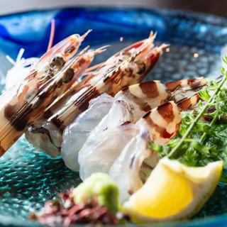 店主の確かな目利きで仕入れる新鮮魚介を、リーズナブルにご提供