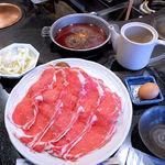 しゃぶ辰 - 国産牛ロースすき焼き定食(1,000円)