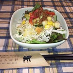 パスタの店 山猫軒 - ランチのサラダ お箸も可愛らしい