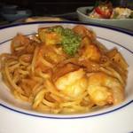 パスタの店 山猫軒 - エビとポテのトマトクリーム 麺・ソース バランスがすごく抜群
