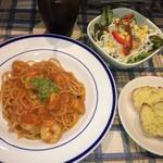 パスタの店 山猫軒 - ニャア 選んだ山猫ランチ エビとポテのトマトクリーム