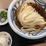 おうどん 瀬戸晴れ - ぶっかけ冷中 大根スリとネギ・生姜スリが別小皿です