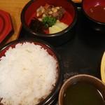 そば宏 - ヒレカツ定食ご飯大盛り