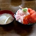 112360240 - 【2019.7.27(土)】三色丼⑰(かに・サーモン・いくら)2,000円