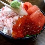 112360241 - 【2019.7.27(土)】三色丼⑰(かに・サーモン・いくら)2,000円