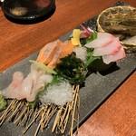 十方夷第 - 活縞海老入り 旬の魚介4点盛り