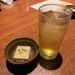 十方夷第 - 先付&緑茶ハイ