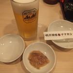餃子酒場ナナホシ - ビールとセットの小鉢(2019.7.6)