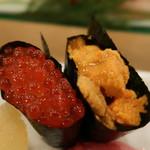 一休寿司 - 雲丹、いくら