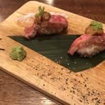 炭火バル 神田岩本町style - 和牛の炙り寿司