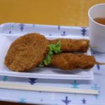 ウスヤ精肉店 - 厚切りハムカツと串カツ