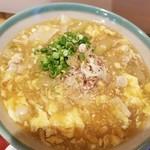 和食ながい - 季節のあんかけ稲庭うどん(夕顔、あぶらふ、豚肉、フワフワ玉子)