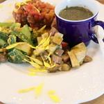 キッチン 菜 - 長芋とプチトマトのしそジェノベーゼ和え
