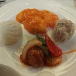 Nangokushuka - 玉子入りエビチリや酢豚、焼売、蒸し餃子