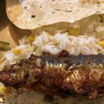 NEPALI CUISINE HUNGRY EYE Dine & Bar - イワシフライ&ベジタブルライス