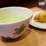 和菓子菓寮ocobo - おこぼ餅とお抹茶セット