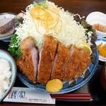 とんかつ 櫻家 - 極上ジャンボロースかつ定食
